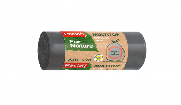 Торби от рециклиран материал MULTITOP  35 л., 60 л. - комплект от  3 броя