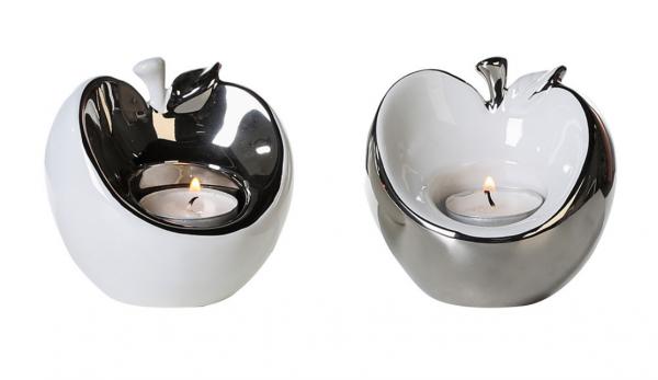 """Свещник за чаени свещи """"Apple"""""""