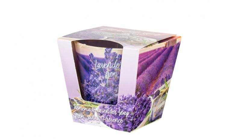 "Ароматна свещ в стъклена чаша ""Lavender fields"""
