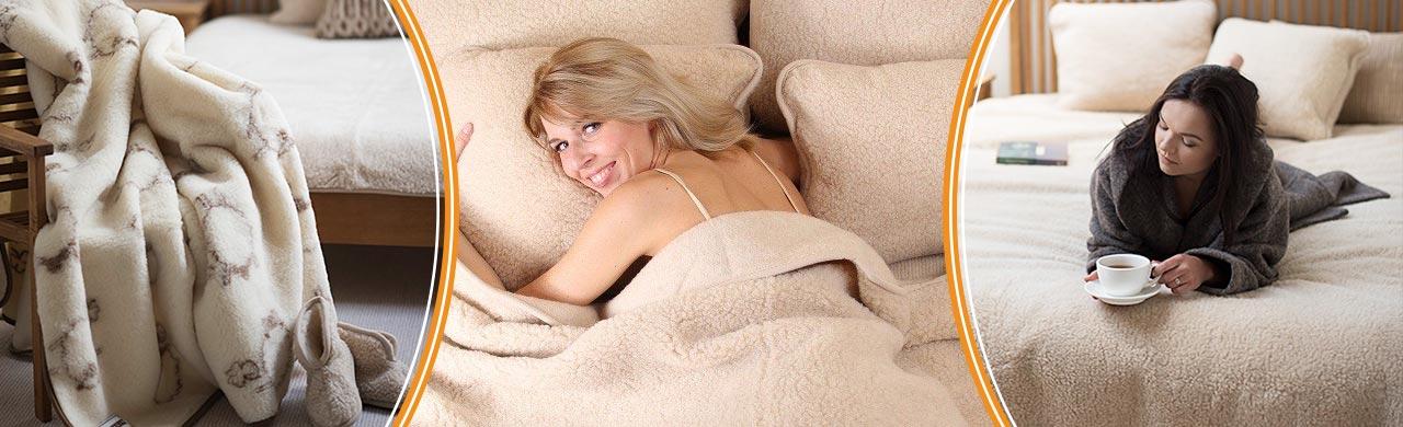 Топли и меки одеяла от естествена вълна