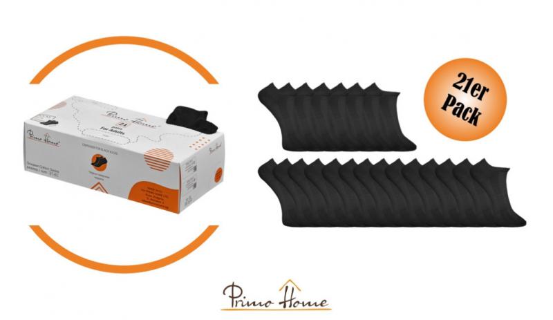 Диспенсър за черни памучни sneaker чорапи Primo Home - 21 чифта в практична кутия