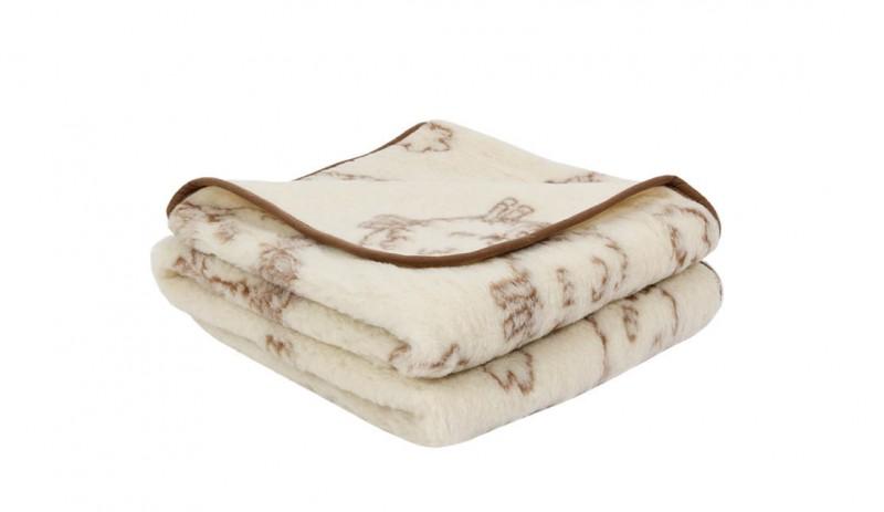 Вълнено одеяло Lambs от естествена мериносова вълна сертифицирана от Woolmark®