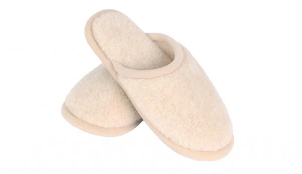Вълнени домашни дамски чехли Camel Beige