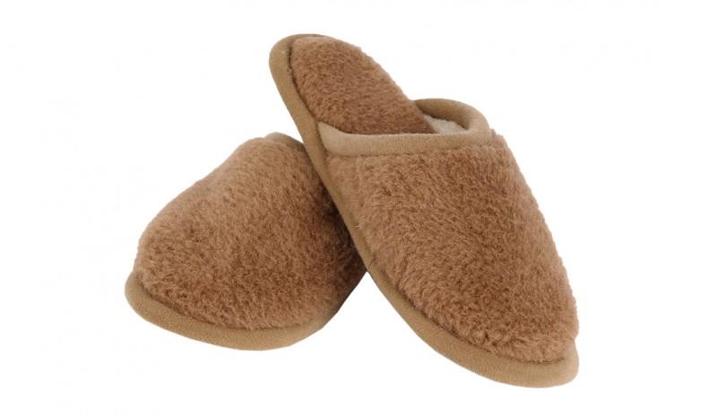 Вълнени домашни  мъжки чехли Camel Bronz