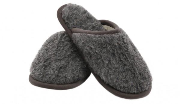Мъжки вълнени домашни чехли Мерино Graphite от естествена мериносова вълна сертифицирана с Woolmark®, тъмно сиви