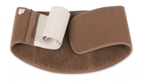 Вълнен колан за кръста Camel от 100% фина естествена вълна - терапевтичен колан против болки в кръста със затоплящ ефект