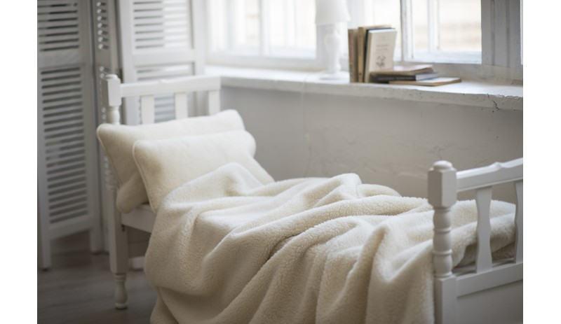 Вълнено одеяло Fluff от естествена мериносова вълна сертифицирана отWoolmark®