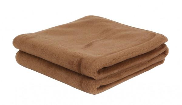 Вълнено одеяло Chocolate от мериносова и камилска вълна