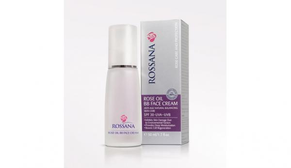 Защитен и подхранващ BB крем за лице с розова масло SPF 30