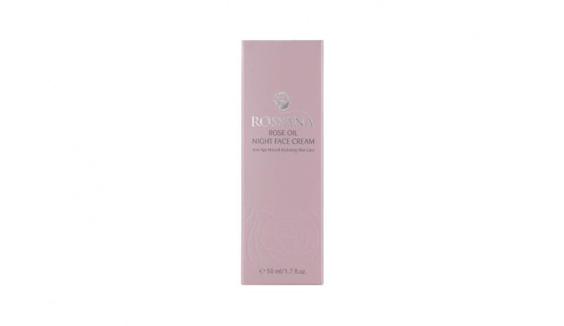 Нощен крем за лице с розово масло