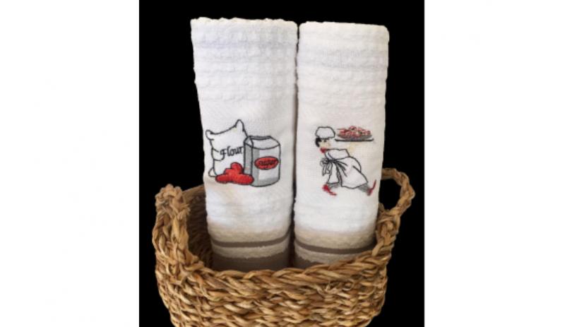 Комплект кухненски кърпи от 100% памук, 450 гр./м2