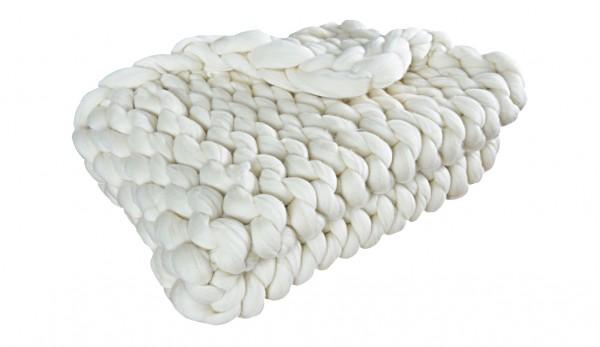 Детско ръчно изработено одеяло от естествена мериносова вълна в цвят екрю, светло сив, тъмно сив, мента, жълт, корал