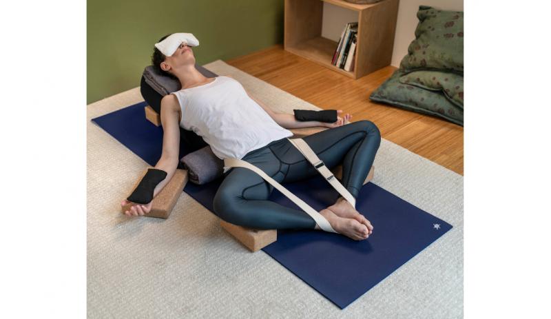 Комплект за йога Dark Blue