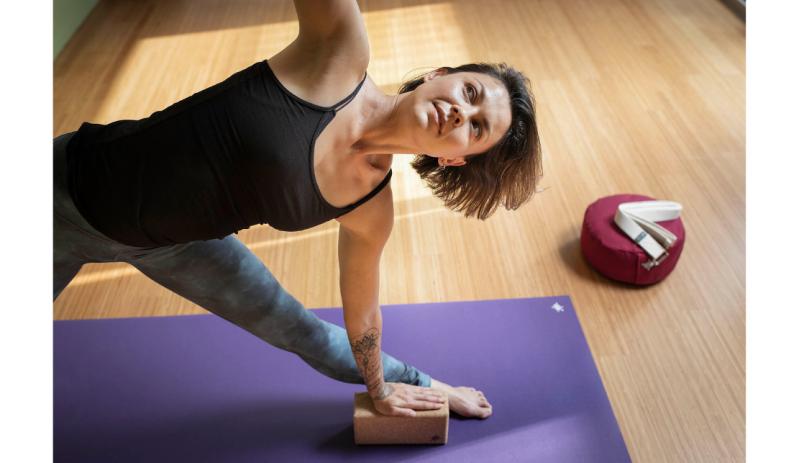 Комплект за йога Purple